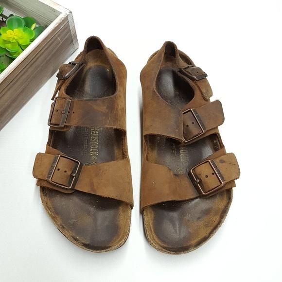 f90bbaf48299 Birkenstock Shoes - Birkenstock Milano Leather Sandals Sz 40